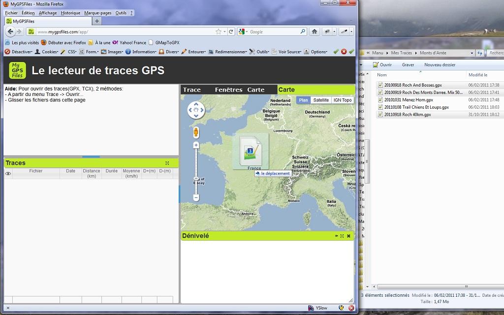 MyGPSFiles: The GPS tracks reader